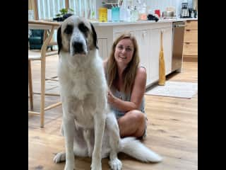 Me and Silvestor the rescue Anatolian Shepherd, Great Pyrenees - nervous loveable guy ❤️