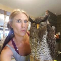 Chaba the Owl doesn't like selfies as much as I...