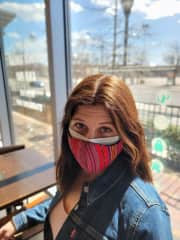 I'm fully vaccinated, as is my husband, but we wear our masks in public anyway.