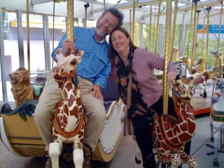 We never pass up a chance to ride the carousel!