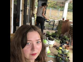 I lived with my best friend Anna in North Carolina. She grows plants in a greenhouse. It was so nice to be surrounded by so many thriving plants.