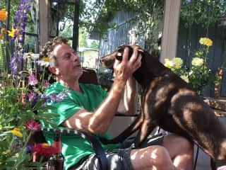 Troy with Citori ... he loves fur baby dogs!