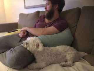 Luke with Molly