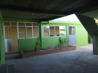 View of the patio from the carport