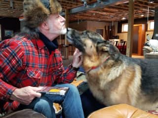 Mike and Kaiser - our first sit with TrustedHousesitters!