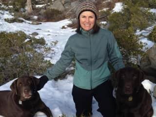 Sarah with Mowgli and Baloo