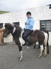 Me horse riding in Iceland