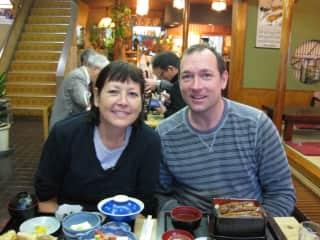 John and Lisa in Narita Japan