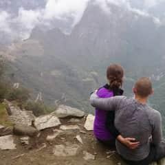 A well deserved rest after climbing up to Machu Picchu