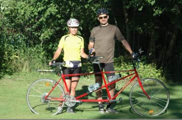 "Our tandem racing bike.  We have done ""Vättern Runt"" five times with this one. (300 km bicycle race)"