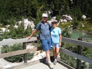 Paul & Leetta hiking near Mt Lassen