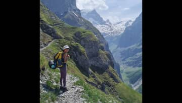 Love this hiking and camping on the top of the mountain in Switzerland. Actually it was quite challenging.