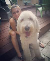 With Zuko, my Old English Sheepdog