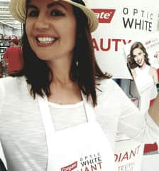 I work events- this is an event for Colgate [toothpaste].  I love interacting with others + acclimating them about a new product/service.  All Best :)