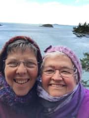 Joy & Judy on Whidbey Island, Washington