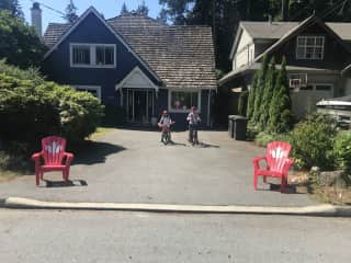 Our house on Canada day!