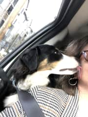 A kiss goodbye on my recent visit to Oregon.