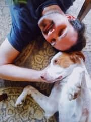 Dan and his dog Charlie