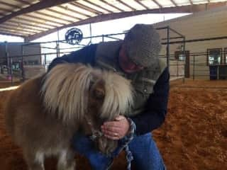 Chip with PeggySue at ROCK Equine Therapy