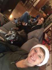 Enjoying the holidays with fluffy family
