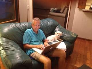 Haiku supervising Bert's work
