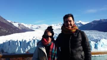 Lourdes & Marcelo in Glaciar Perito Moreno