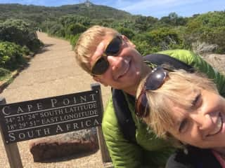 Royn and Tina in South Africa