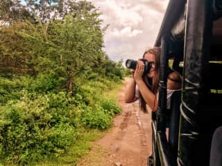 I would love to someday be a photographer or journalist. Here i am practicing my photography in Sri Lanka.