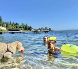 Daily swim Lake Washington, Seattle
