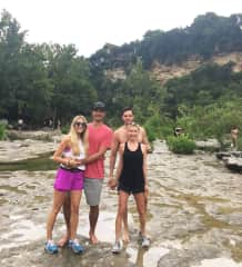 Us hiking with friends in Austin, TX