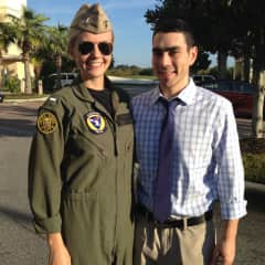 My daughter and her husband Lt. Charlie Talisse, both stationed in Oceana and having a baby in Feb 2021.