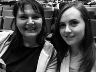 Me and my oldest - my children are my favourite interest.