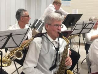 David on alto sax. I play in a concert band and am working on my jazz chops.