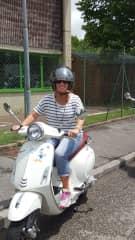 Me on a Vesper in Italy