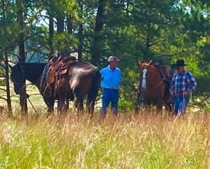 Russ and friends horseback riding