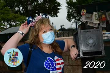 Showing out for USA in Epcot, September 2020