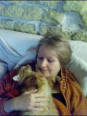 With my own cat Babyboy in 2011