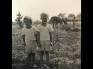 I am a 4 year old kindergartener in this photo.   Our kindergarten teacher took us to meet her horse.  An arrow from the the cupid of equine love pierced my heart that day!