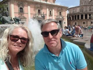 This is us on holiday in Spain