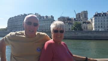 Paul  & Sheila in Paris, France.