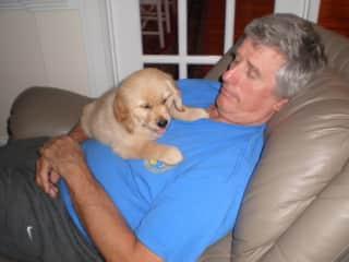 Floyd with grand dog