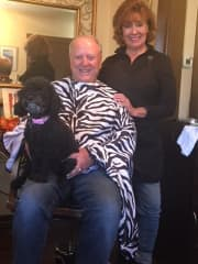 Lola likes to go to the Hair Salon!