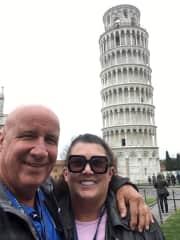 Greg and Joni in Pisa
