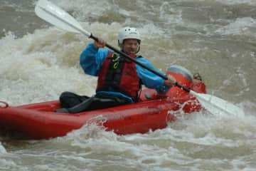 Me on the French Broad River, North Carolina
