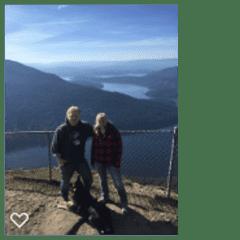 Brad & Katie with Robbie at Salt Spring Island, British Columbia