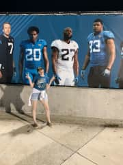 Me at a Jacksonville Jaguars game in 2019. GO JAGS!