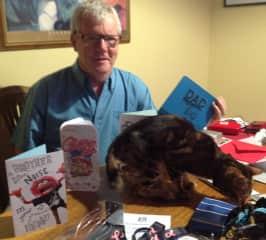 Ken with neighbourhood cat Alfred