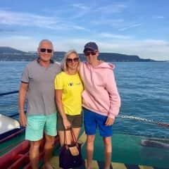 Nigel Louise & Giles on lake Garda car ferry!