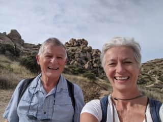 Enjoying a beautiful 8 mile hike in the desert.
