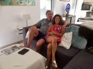 Jean Claude and I in our home in Luxembourg
